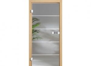 Межкомнатная дверь GlassLine натуральный шпон, стеклянная